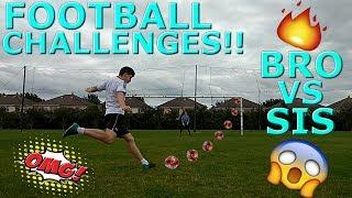 BRO VS SIS   FOOTBALL CHALLENGES!!!