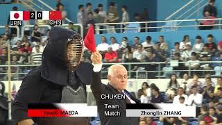 17th World Kendo Championships Men's TEAM MATCH 2ch Japan vs China