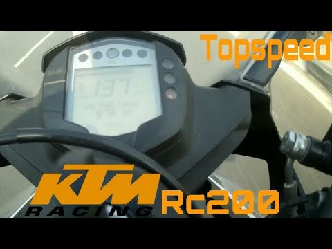2018 Ktm Rc 200 Top speed