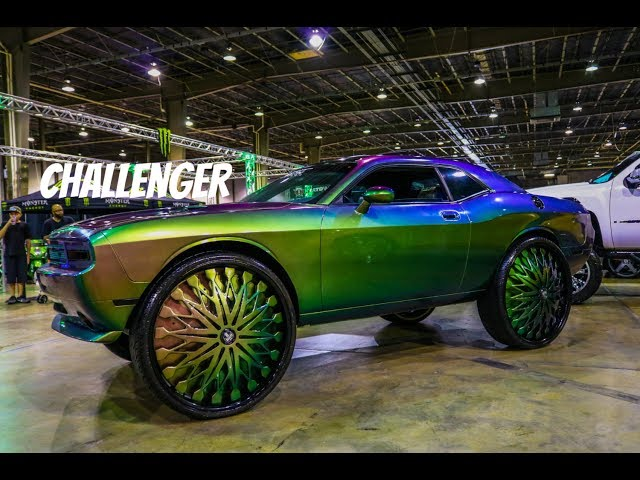 Dodge Challenger on 34 inch Dub Wheels in HD (must see)