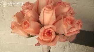 Свадебный букет невесты из розовых роз