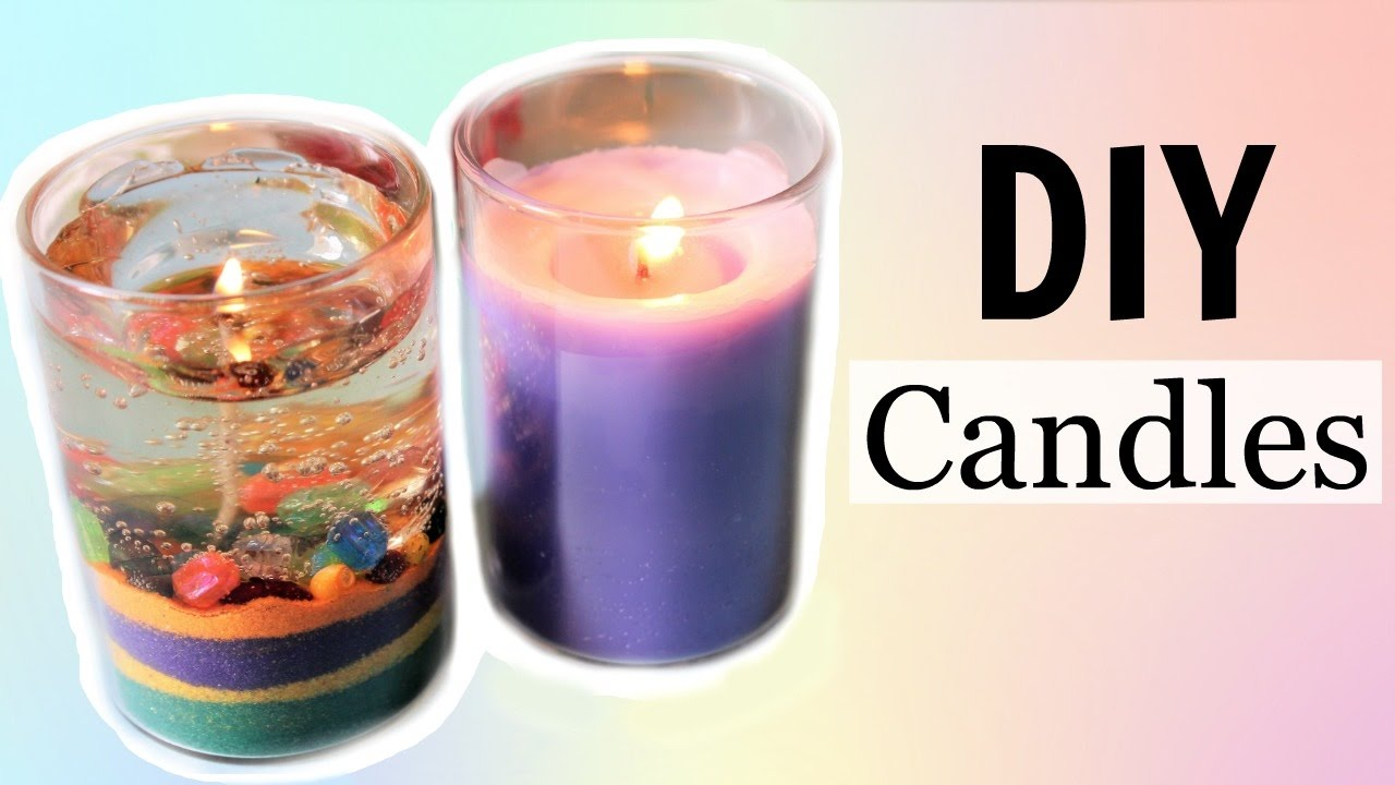 Diy water gel candle and aroma candle without bee or soy wax easy and cheap