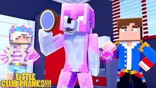 Minecraft LITTLE CLUB PRANKS WARS - PRANKING DONUT THE DOG!!! w/ LITTLE LEAH & LITTLE DONNY