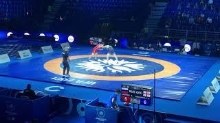 Вольная борьба Чемпионат Мира 2021 86кг за бронзу Ислам Картоев Россия Давит Когуашвили Грузия