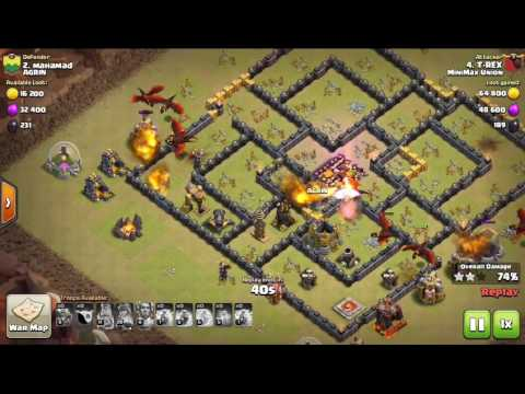 MiniMax Union war attacks: mass drags Vs TH10 3 star
