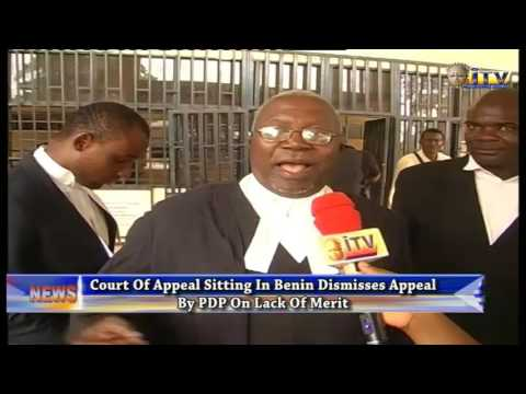 Court Of Appeal Sitting In Benin Dismisses Appeal By PDP On Lack Of Merit