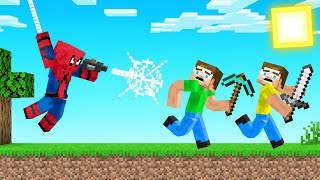 SPIDERMAN vs SPEEDRUNNERS In MINECRAFT!