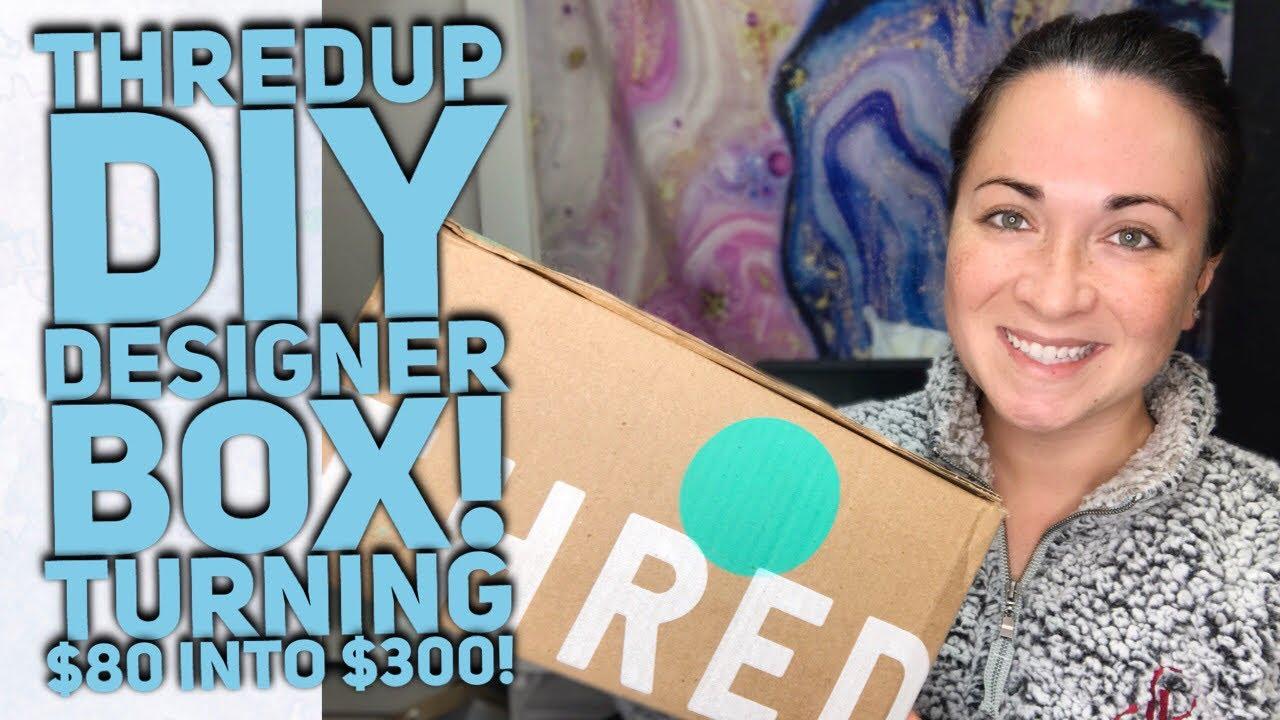 Thredup Diy Designer Rescue Box High End Items To Resell On Ebay Poshmark Collab W Seafashionguru Youtube