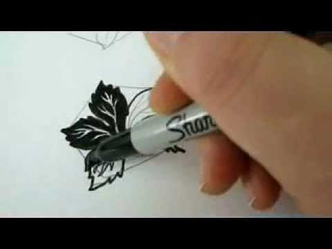 How To Draw Leaves 4 Very Simple Instructions To Draw A Grape Leaf Youtube