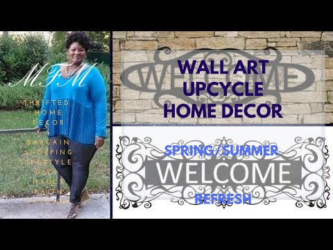 Wall Art Upcycle | Home Decor | MFM 2019