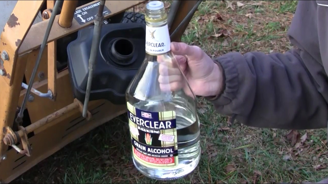 RUNNING LAWNMOWER ON LIQUOR