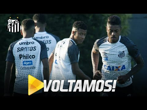Santos se reapresenta no CT Rei Pelé