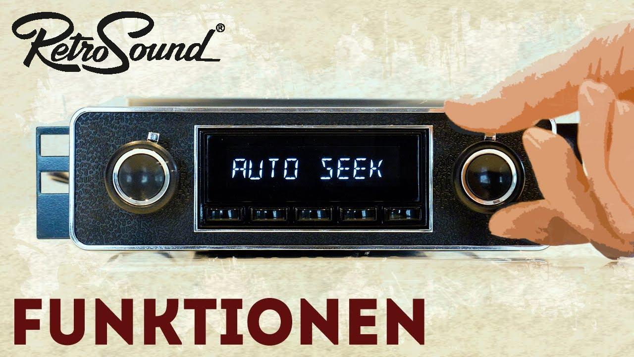 """RetroSound Autoradio - Bedienung des """"Santa Barbara"""" und """"San Diego"""" mit  DAB+"""