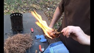 A Very Easy Way To Make Char Cloth Without  a Tin!