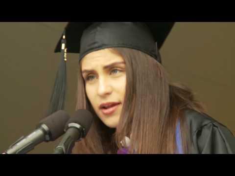 Undergraduate Speaker Noura Bou Zeid : NDNU Commencement 2017