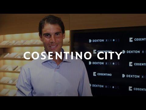 Rafa Nadal visits Cosentino City in Manhattan