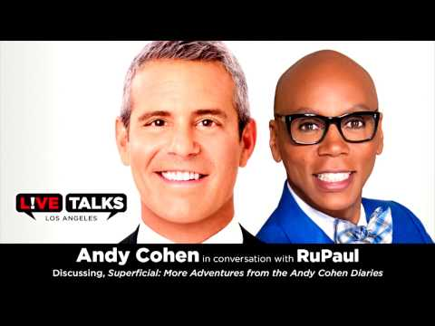 Andy Cohen with RuPaul at Live Talks Los Angeles