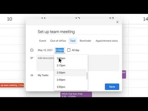 How to: Create a Task in Google Calendar