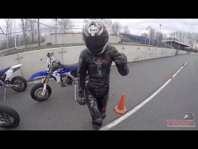 Back to Supermoto School with Miss Two Wheels and a Ponytail | Supermotorschool.com