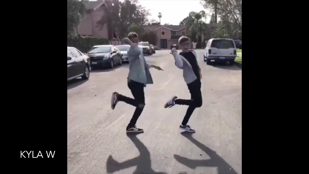 Johnny Orlando doing a tik tok dance trend with Darius ...
