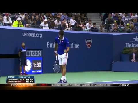 Federer vs Djokovic US Open 2015 breakpoint chances