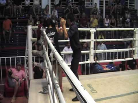 SuJeong (Korea) Sinbi Muay Thai fights @ Bangla Stadium