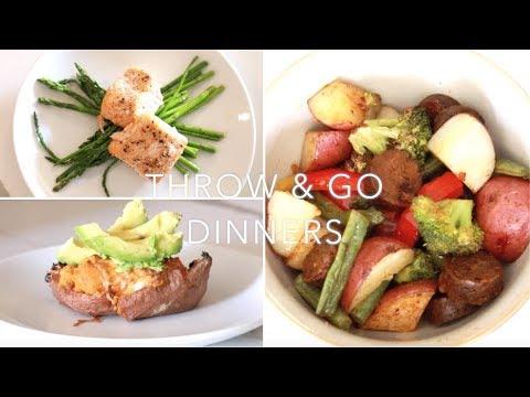 Throw & Go Sheet Pan Dinners #MealPlan