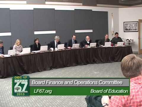 LF Elementary School District 67 Board of Education ~ 12-17-13