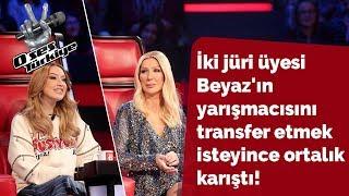 İki jüri üyesi Beyaz'ın yarışmacısını transfer etmek isteyince ortalık karıştı! | O Ses Türkiye 2018
