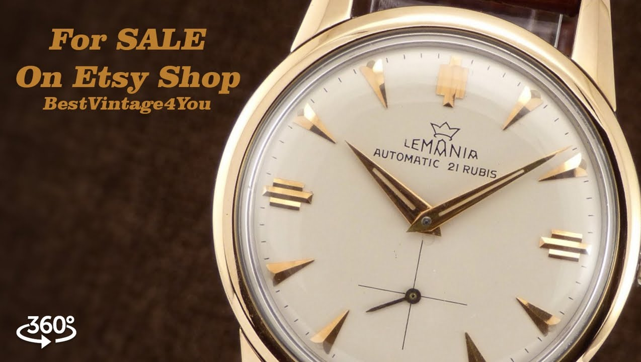 jewel filled manual watch gold vintage handwind unisex itm watches omega