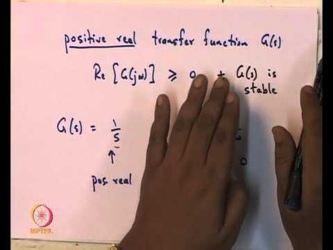 Mod-01 Lec-17 Passive filters, Dissipation equality, positive real lemma