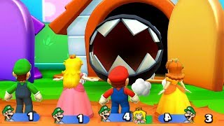 Mario Party Star Rush - MiniGames - Peach Vs Daisy Vs Mario Vs Luigi