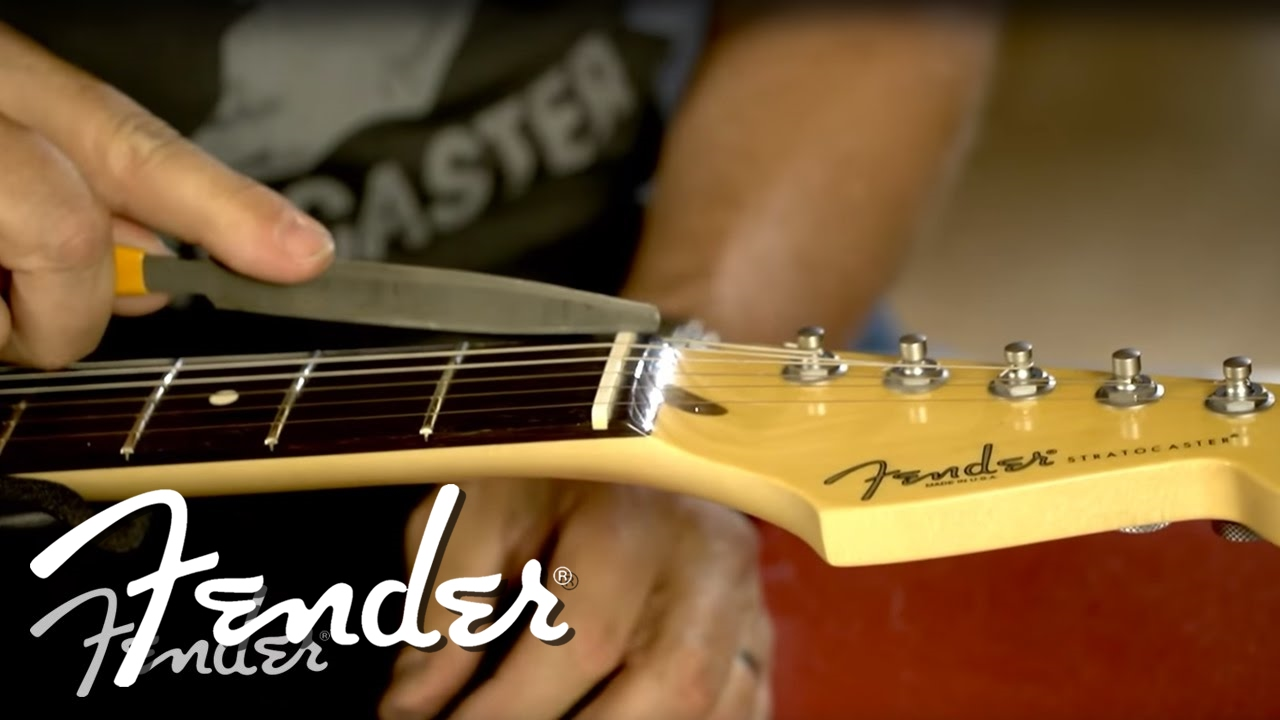 How To Filing The Guitar Nut Fender Youtube Standard Telecaster Wiring