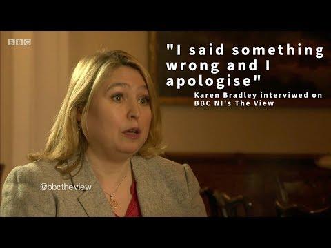 "Karen Bradley ""I said something wrong and I apologise"""
