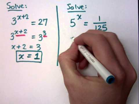 College Algebra - Part 147 (Exponential Functions - Equations)