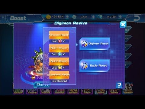 HOW TO USE ALL REVIVE GEMS/ DIGIMON RESET/ EQUIP RESET - Digital World Adventure