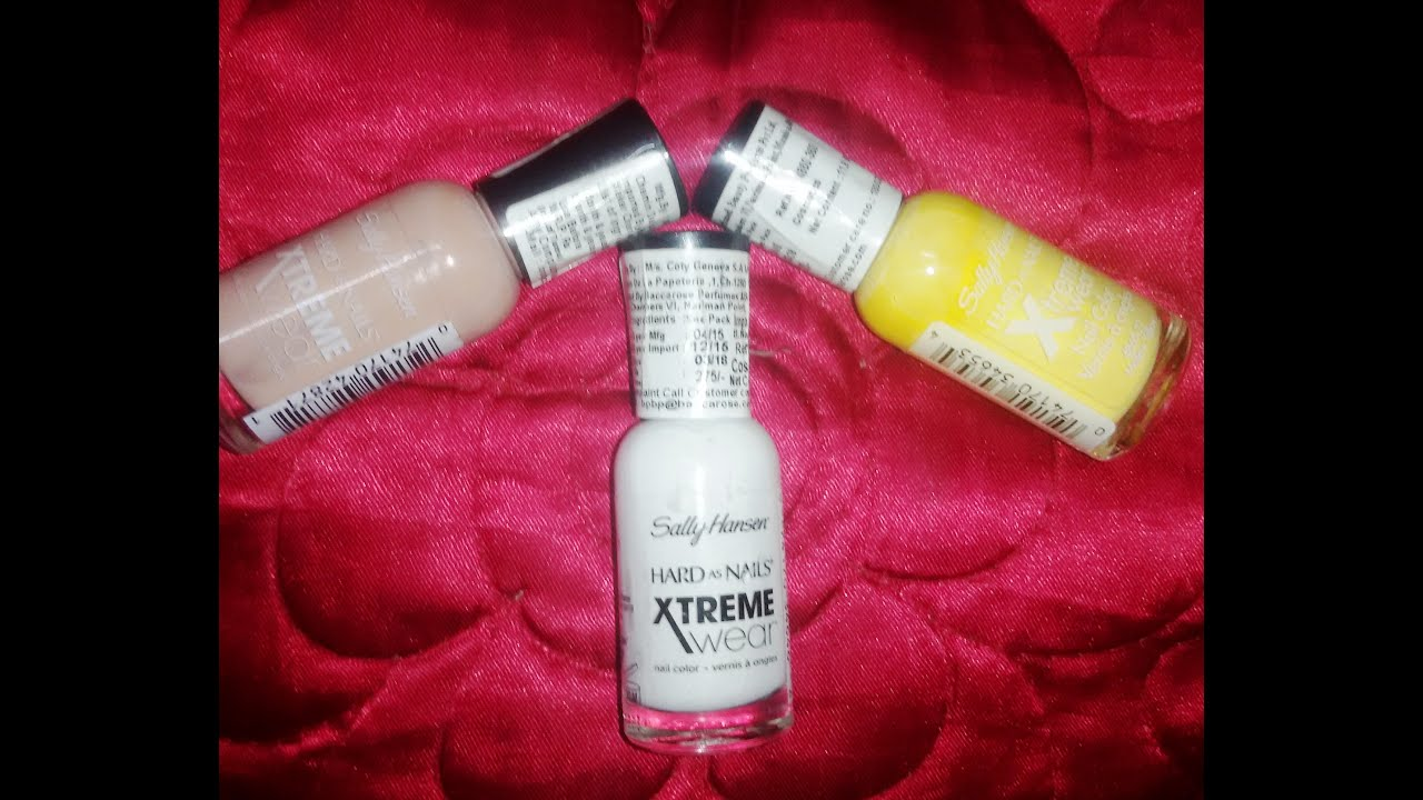 Review on The Sally Hansen Hard as Nails Extreme Wear Nail Polishes ...