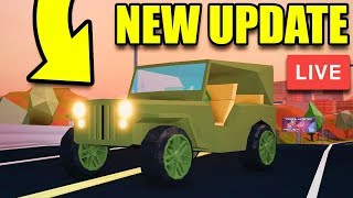 🔴 Jailbreak NEW UPDATE IS HERE! FREE MILITARY JEEP, NEW PRISON, ALIEN INVASION!? | Roblox Jailbreak