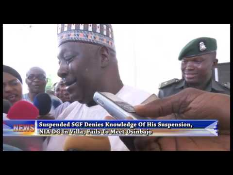 Suspended SGF Denies Knowledge Of His Suspension, NIA DG In Villa, Fails To Meet Osinbajo