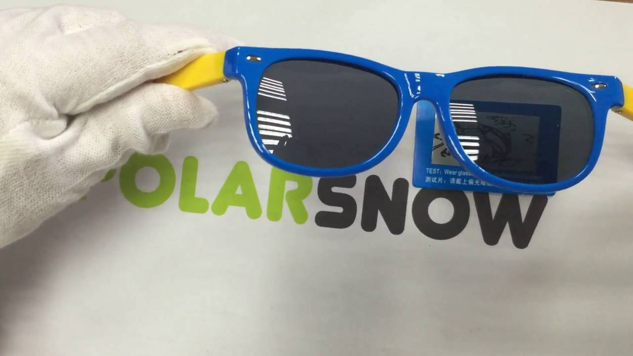 1e16b8367a POLARSNOW Kids polarized sunglasses unbreakable tr90 material - YouTube