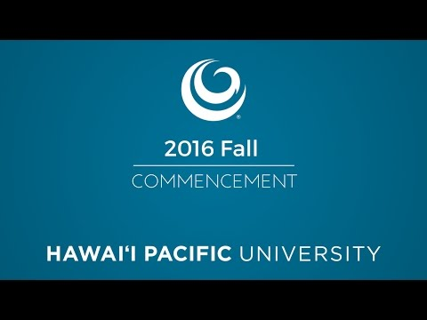 HPU 2016 Fall Commencement