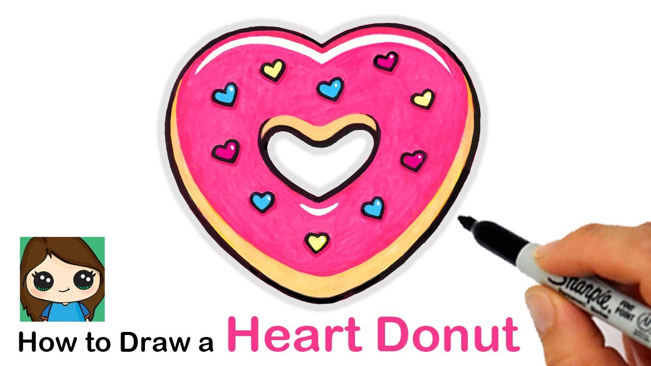 How To Draw A Heart Donut Valentines Donut Youtube