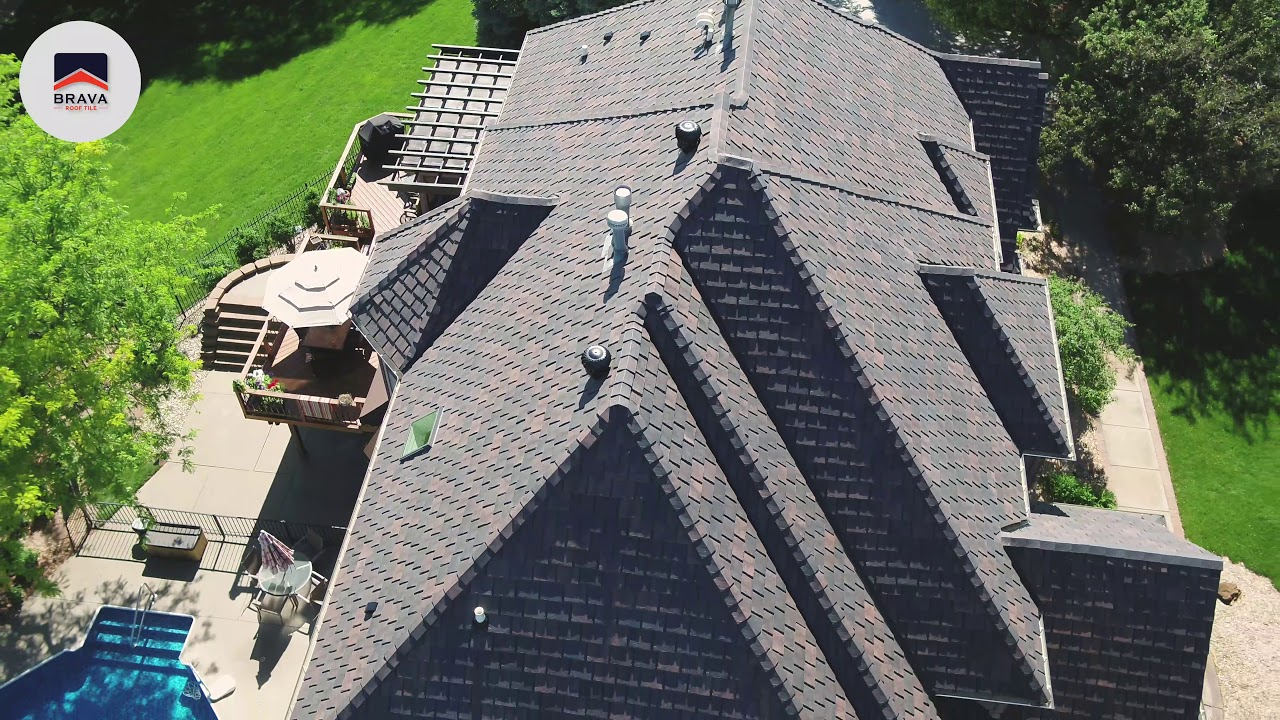 brava slate roof tile composite material with natural beauty color weathered