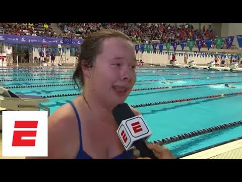 Inspirational Interview After Winning 100M Freestyle Gold At Special Olympics | ESPN