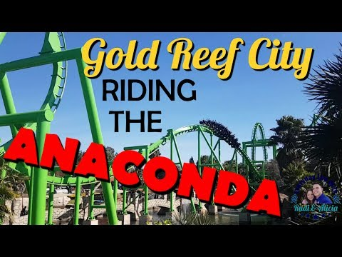 Riding the Anaconda | Gold Reef City | South African Theme Park