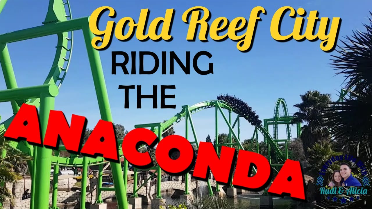 Gold Reef City >> Riding The Anaconda Gold Reef City South African Theme Park