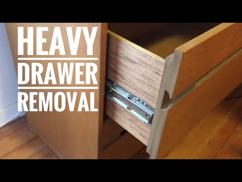 Lateral file cabinet drawer removal - side glide drawer removal
