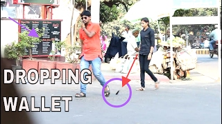 Dropping Wallet in Public (Social Experiment India) 2017