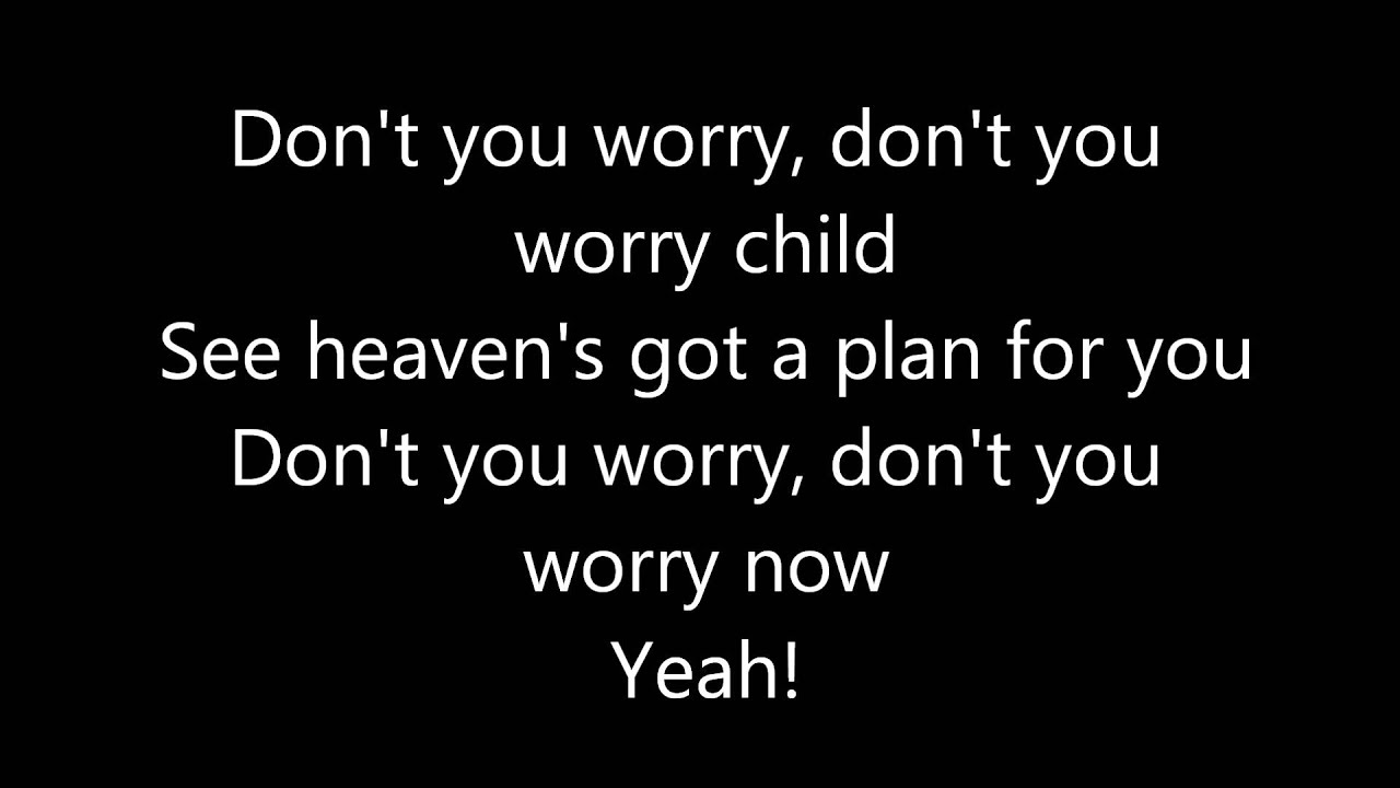 Don T You Worry Child Swedish House Mafia Lyrics On Screen Youtube