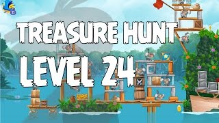 Angry Birds Rio Level 24 Treasure Hunt Walkthrough 3 Star